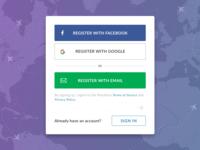 Register Modal / PlacePass