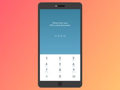 Enter PIN / TruckerLine ios mobile ux ui unlock enter pin code passcode password pin number pin