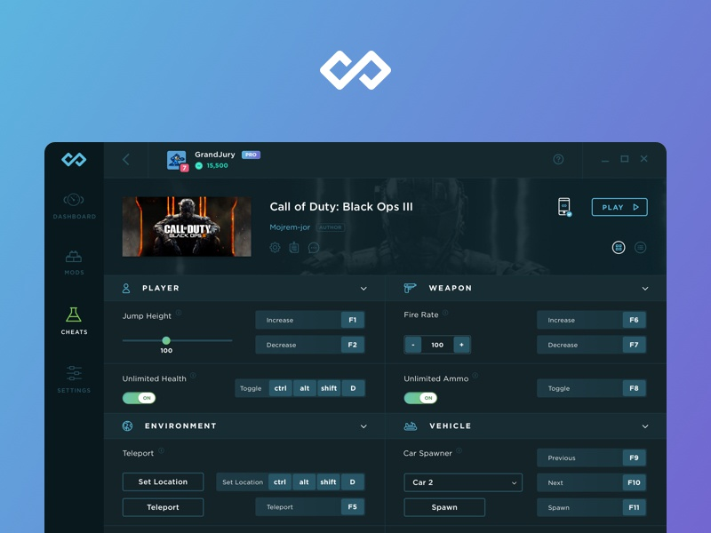 Infinity / WeMod by Mitchell Fox for Shapeshift on Dribbble