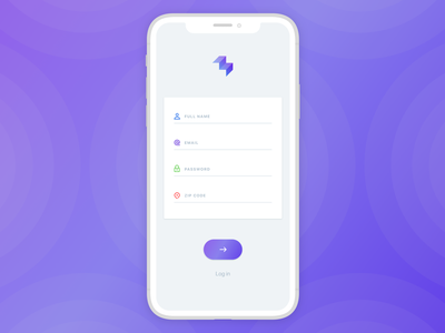 Sign up / Ladder minimal user interface fitness iphone ios mobile ux ui registration form registration register form register sign up page sign up screen sign up form sign up
