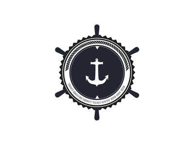 Logo The Stranded Sailors wheel ship sailor sailors logo the stranded sailors identity corporate identity anchor steer stranded badge