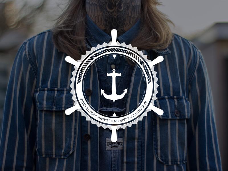 Logo The Stranded Sailors wheel ship sailor sailors logo the stranded sailors identity corporate identity anchor steer stranded badge