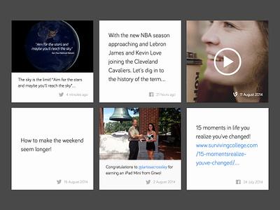 Grwo Social Feed social feed grwo media webdesign web design interactive vine twitter facebook instagram