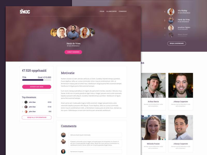 Website SKIC (WIP) - feedback welcome ui web team donate overview design