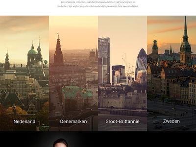 Zuidema about page desktop client landing website design web page about zuidema