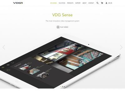 Product page header ipad clean website web landing page product