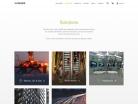 VDG Solutions Page cases case photography photos website web page landing overview product clean