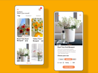 UI design for a flower shop application