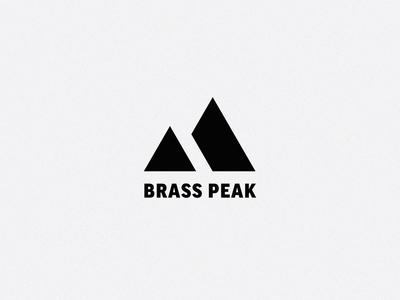 """Brass Peak Logo - Horizontal """"B"""" + Mountains"""
