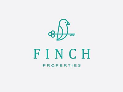 Finch Properties properties serif f bird real estate key finch