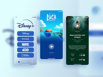 Disney+ App description navigation disneyplus streaming movie movies plus disney design ux ui mobile figma app