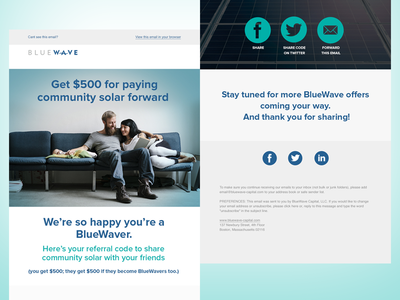 Bluewave Email social simple email