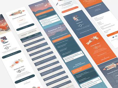 Postman App Redesign (Mobile) app interface web ui mobile