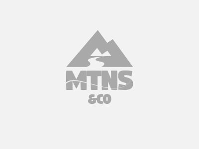 MTNS&Co. Logo hiking fishing outdoor mountains badass branding bold logo
