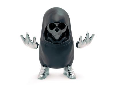 ChibiG render badass skull sneakers art concept game character 3d
