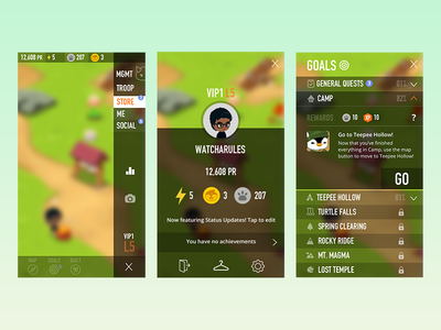 Battle Camp - UX/UI Concept mobile battlecamp ui ux monsters app game