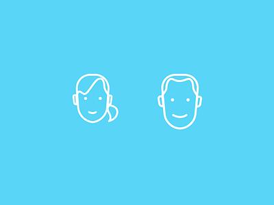 Profile Icons clean illustration persona profile icons