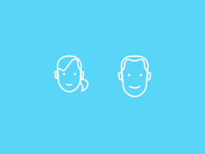 Profile Icons clean illustration persona profile icons