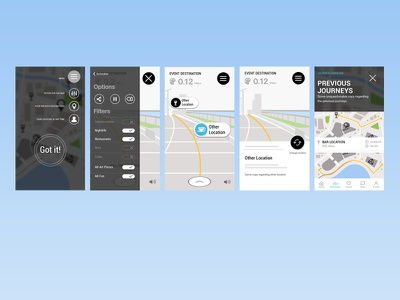 AR app Wireframes ux mobile cannes lions unity pathfinder wireframes ar