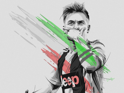 NO FACE! (Paulo Dybala Sport Illustration)