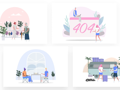 New illustration on our platform food fithess sport flowers building 404 music btrip itg.digital animation woman flat people illustrations composition vector illustrator itg illustration