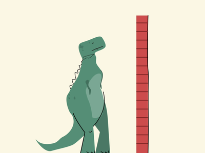 ITG - That's enough stop tired animal wall dinosaur dino fan motion animation fun illustrations flat composition vector itg illustrator illustration
