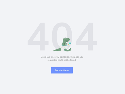 ITG - 404 page motion animation baby not found itgdigital search results search dinosaur dino fun page not found 404 error error 404 page 404 ui illustrations itg illustrator illustration