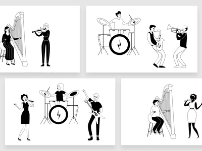 ITG.digital - online builder for illustrations drum singer song guitar music player musician music motion animation man woman people illustrations itg composition vector illustrator illustration