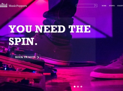 Music Poppers - A Music Festival Agency Concept Website