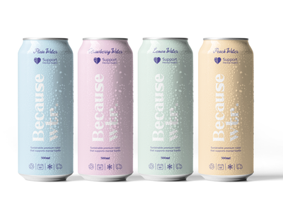 Because Water - Mint and Planet world planet mint healthy watter packaging design branding brand identity packaging