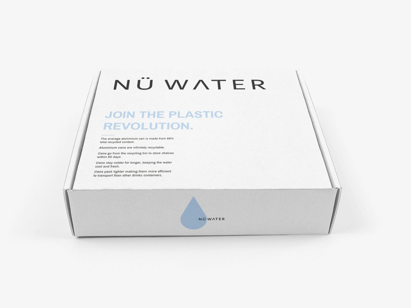 Shipping Box for Nu Water shipping logo design water logo design packaging design branding brand identity packaging