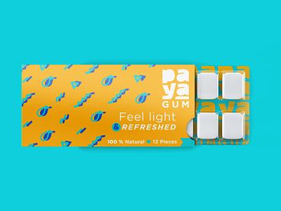 Bubble Gum Packaging Concept food packaging bubblegum pattern brand identity packaging design branding illustration logo packaging