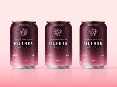 Pilsner Packaging Design femenine natural beer can illustration design packaging design branding brand identity packaging