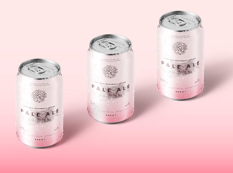 Pale Ale Beer Packaging wheat woman femenine female goddess paleo vegan sugar free alcohol beer design illustration branding brand identity packaging