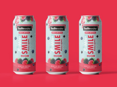 Flavored Water Packaging water packaging design branding pattern illustration brand identity packaging