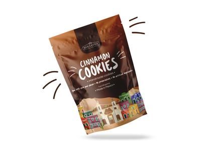 Cookies Packaging Design made in mexico handmade cinnamon cookies chips mexican art mexican design mexico discovery packaging design packaging branding brand identity