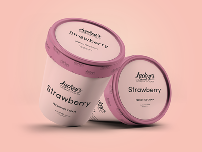 Strawberry Ice Cream Packaging