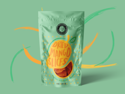 Peach Dried Chips Packaging