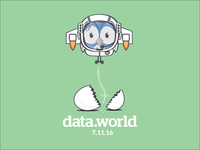 data.world preview release launch t-shirt