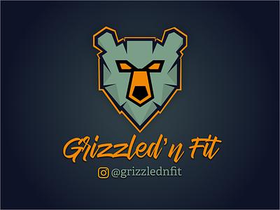 Grizzled 'n Fit brandin logo sketch brand design