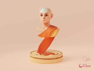 The Last Airbender substance painter aang avatar 3d art design blender