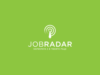 JobRadar lines abstract app job radar illustration flat icon branding logo