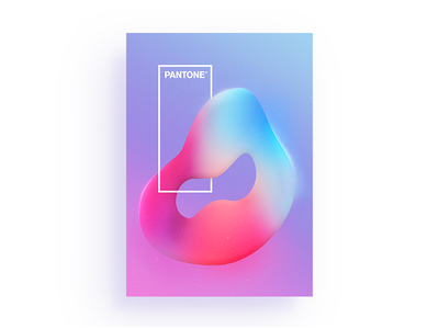 Pantone fine art swiss poster noise texture swiss design modification plastic blink illustration coloful poster design poster art art design gradient poster typography branding geometric abstract