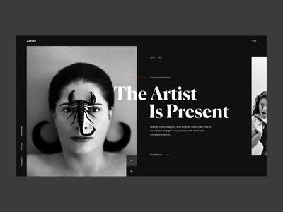 The Artist is Present grid composition minimal website desktop logo branding art template abstract layout minimal webdeisgn geometric flat ux typography ui design