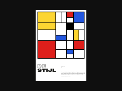 Destijl retro swiss design colorful minimalism poster art vector poster vintage swiss poster design composition minimal art typography design branding geometric abstract flat illustration