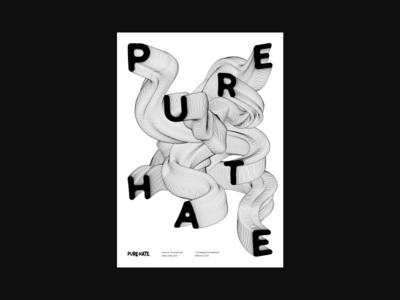 Pure Hate swiss design retro art swiss minimalism poster art vector layout minimal composition poster design poster typography design lines branding abstract geometric flat illustration