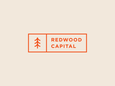 Redwood Capital 2d forest minimalism vintage art icon composition abstract vector tree nature lines minimal typography design branding logo geometric illustration flat