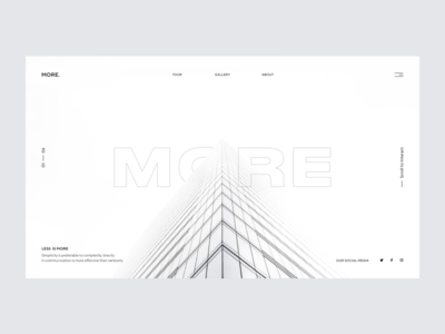 M. Architecture ux  ui ui lines flat illustration abstract geometric photography architechture grid layout grid web webdesign website layout composition minimal typography design branding