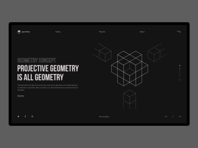 Geometry Concept icon animation vector minimalism composition minimal art abstract design website web layout illustration geometric ux ui typography branding lines flat