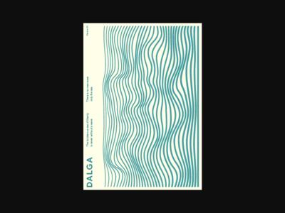 Dalga lines art vintage branding poster art swiss minimalism abstract illustration wave layout poster design poster vector minimal composition design typography flat geometric
